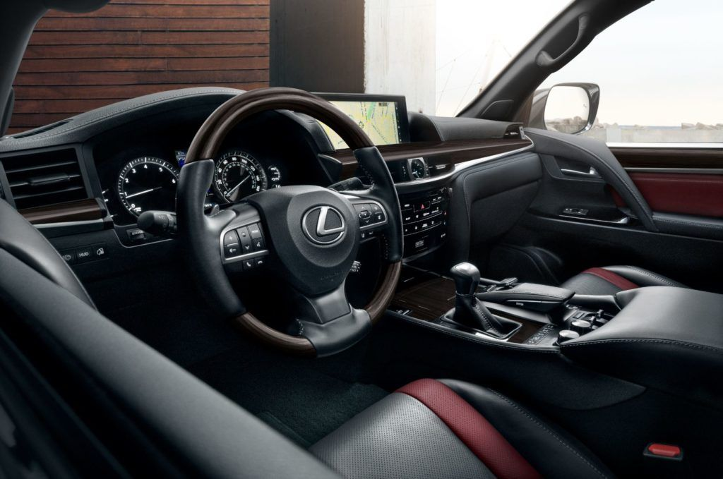 2021 Lexus LX 570 interior layout.