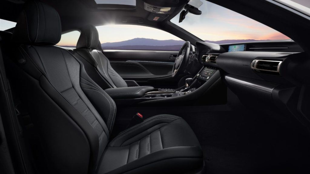 2021 Lexus RC Black Line Special Edition interior layout.