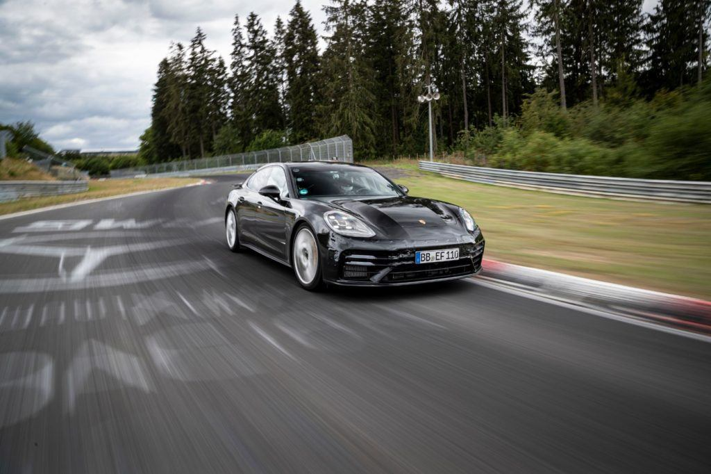Porsche Panamera on the Nürburgring Nordschleife.