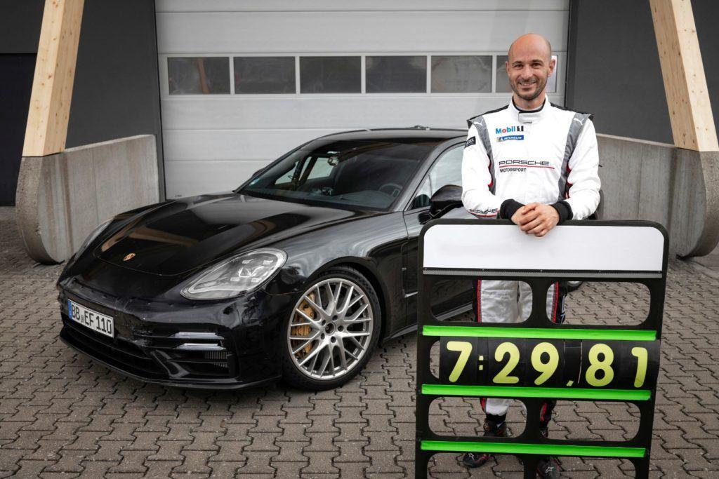 Porsche test driver Lars Kern.