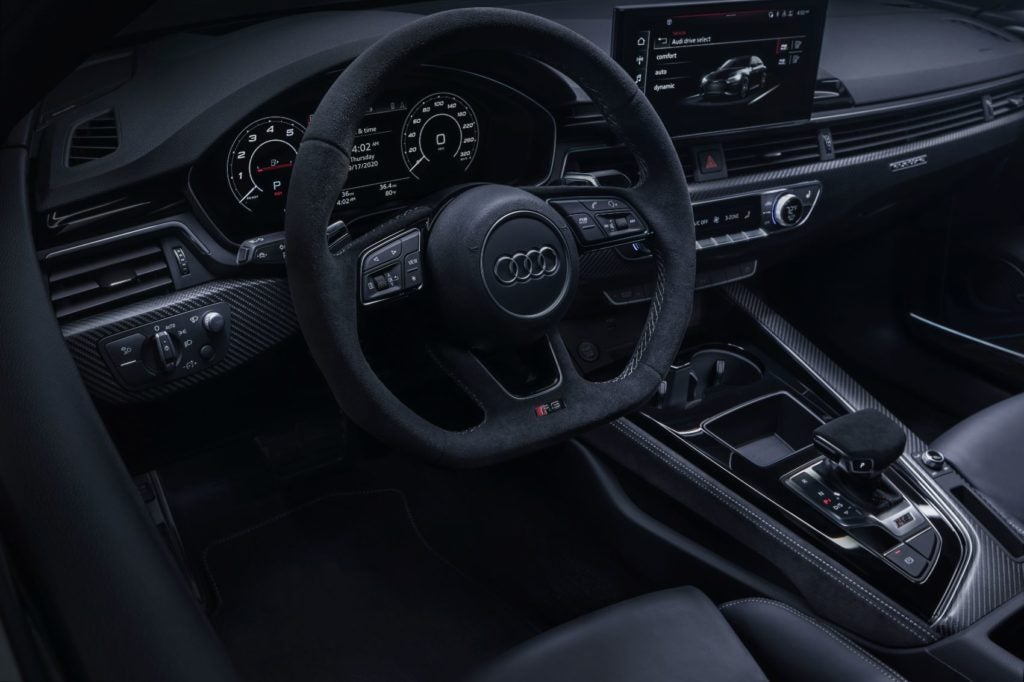 2021 Audi RS 5 Ascari launch edition interior layout.