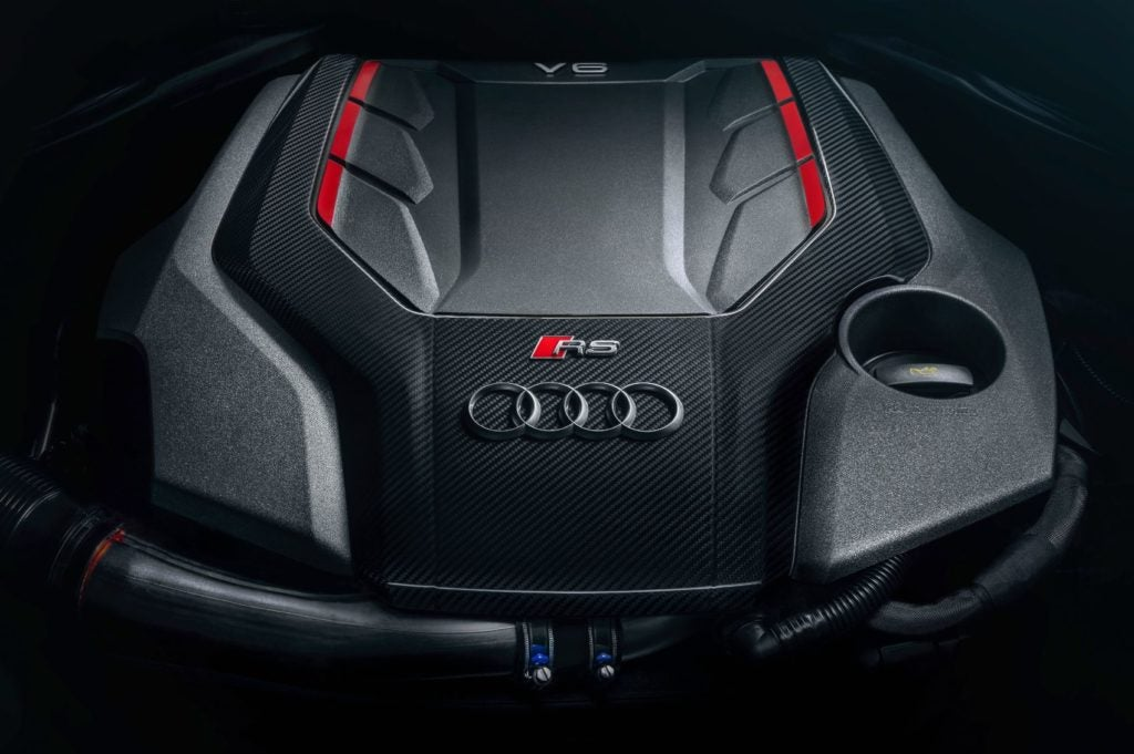 2021 Audi RS 5 Ascari launch edition under the hood.