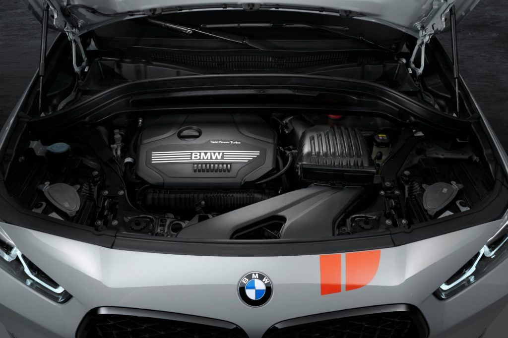 2021 BMW X2 Edition M Mesh under the hood.