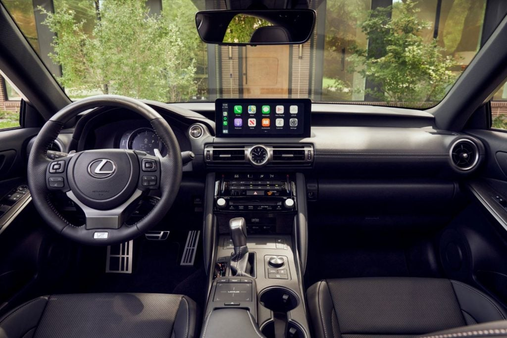 2021 Lexus IS interior layout.