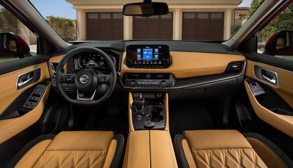2021 Nissan Rogue interior layout.