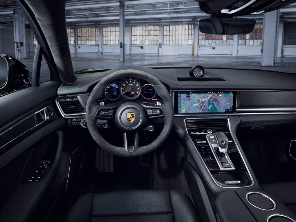 2021 Porsche Panamera interior layout.