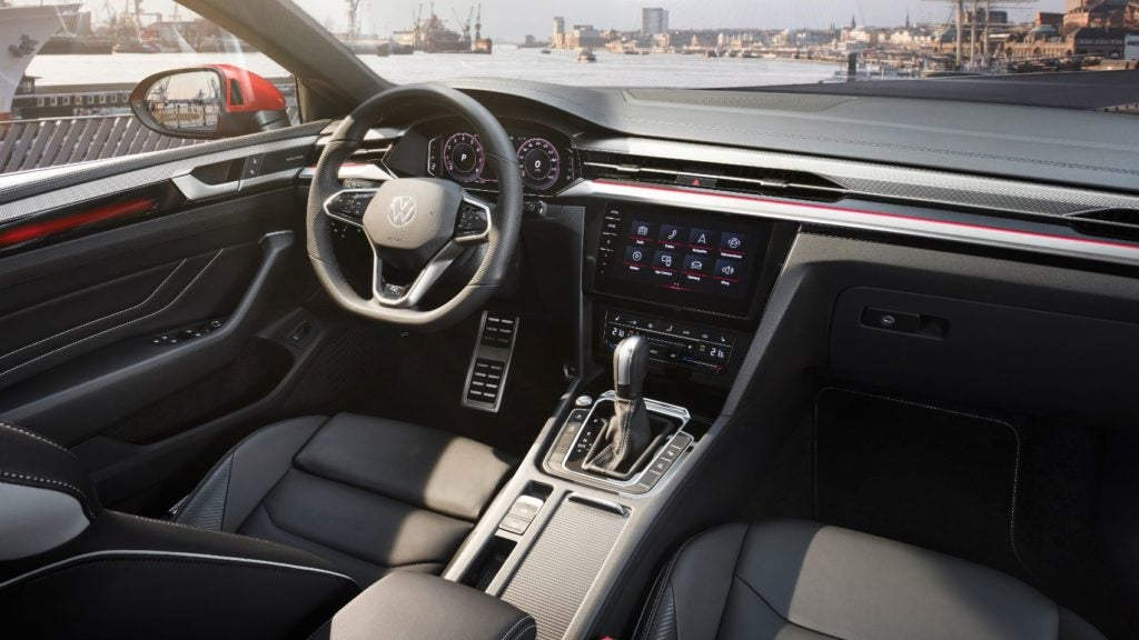 2021 VW Arteon interior layout.