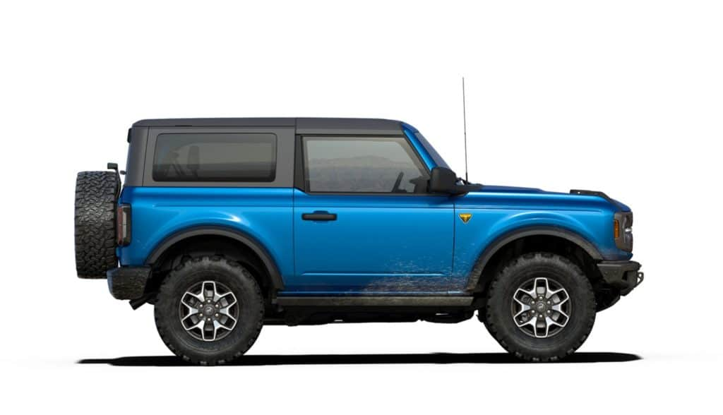 2021 Bronco Two Door Badlands Velocity Blue