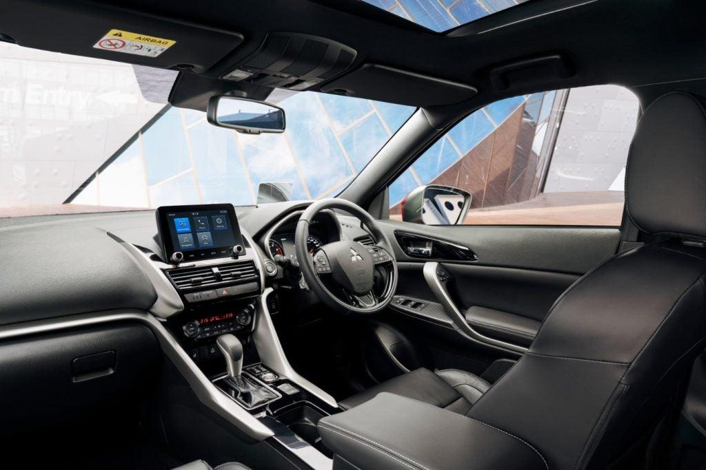 2022 Mitsubishi Eclipse Cross interior layout in a right-hard drive configuration.