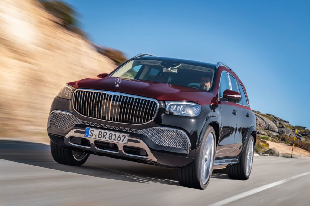 Mercedes-Maybach GLS on the open road.
