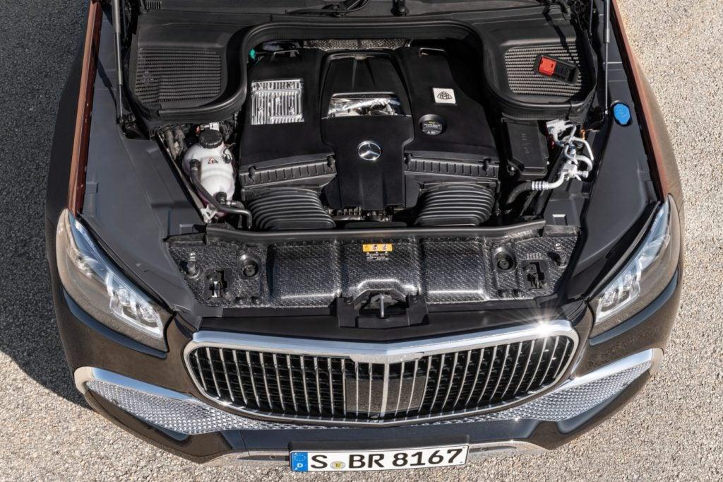 Mercedes-Maybach GLS under the hood.