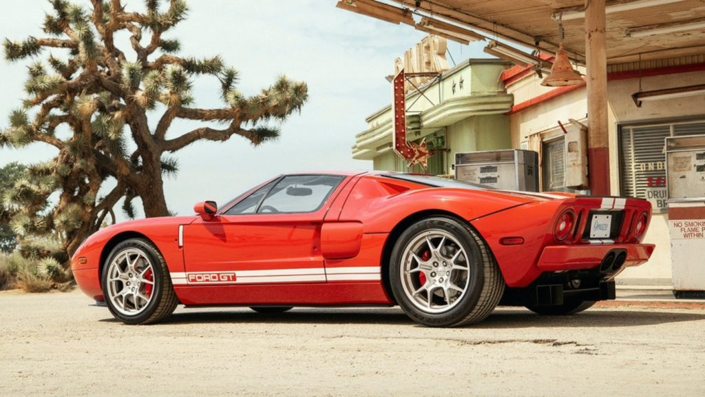 Omaze is giving away this 2005 Ford GT to benefit the Petersen Automotive Museum in Los Angeles, California.