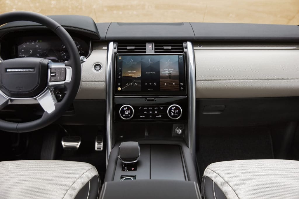 2021 Jaguar Land Rover interior layout.
