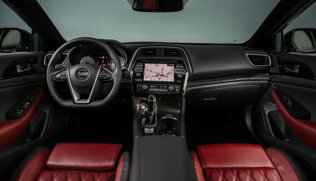 2021 Nissan Maxima interior layout.