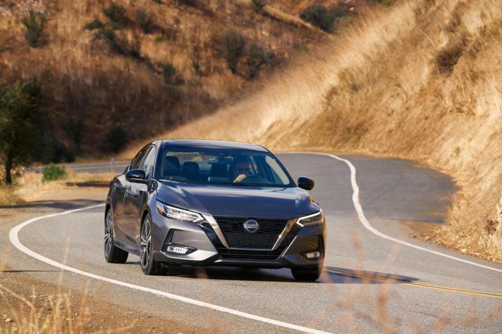 2021 Nissan Sentra on the open road.