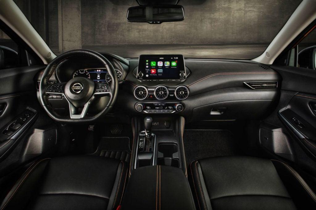 2021 Nissan Sentra interior layout.