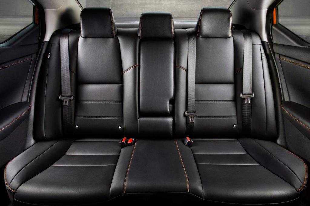 2021 Nissan Sentra rear seat layout.