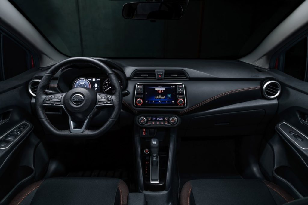 2021 Nissan Versa interior layout.