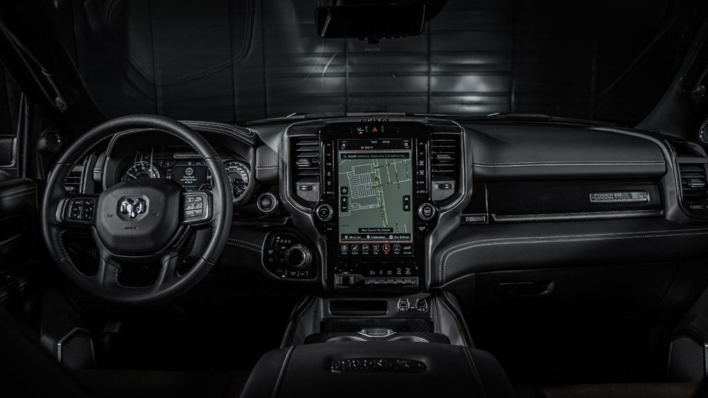 2021 Ram Power Wagon 75th Anniversary Edition interior layout.