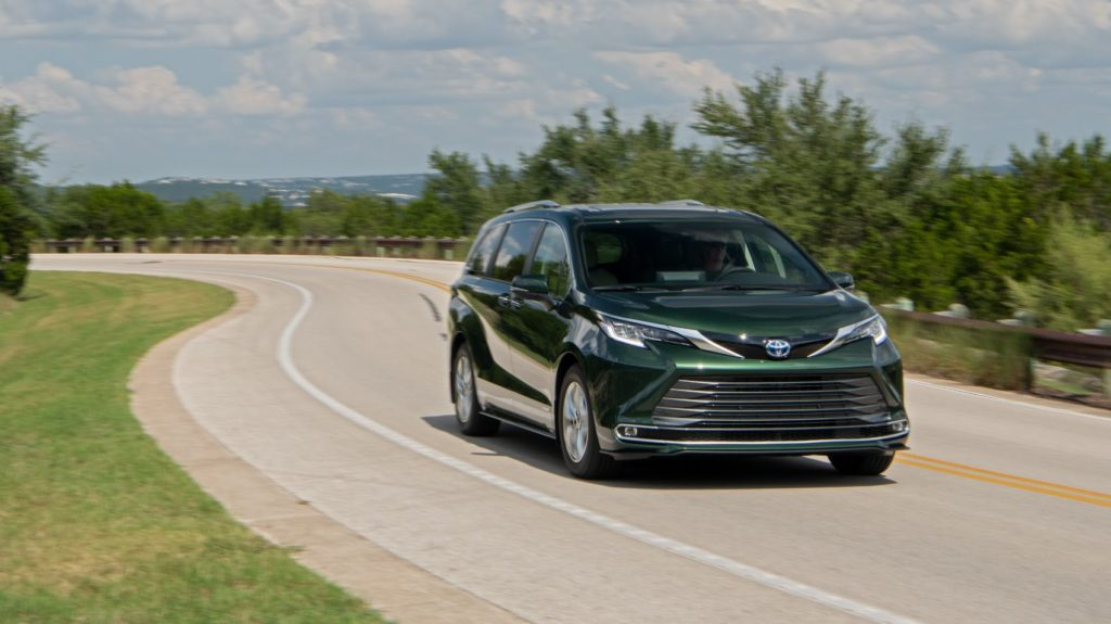 2021 Toyota Sienna on the open road.