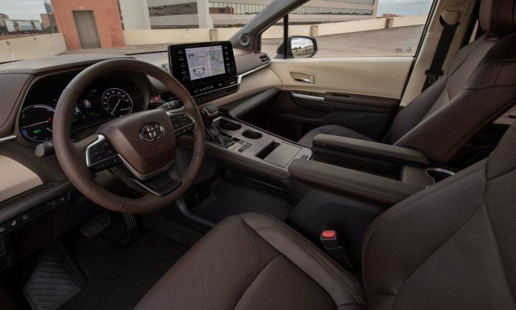 2021 Toyota Sienna interior layout.