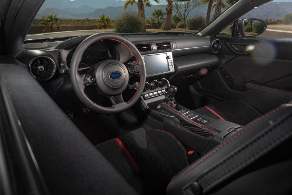 2022 Subaru BRZ interior layout.