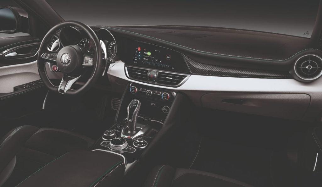 2021 Alfa Romeo Stelvio interior layout.