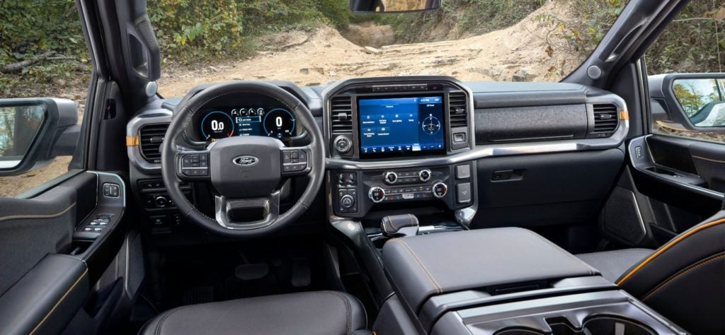2021 Ford F-150 Tremor interior layout.