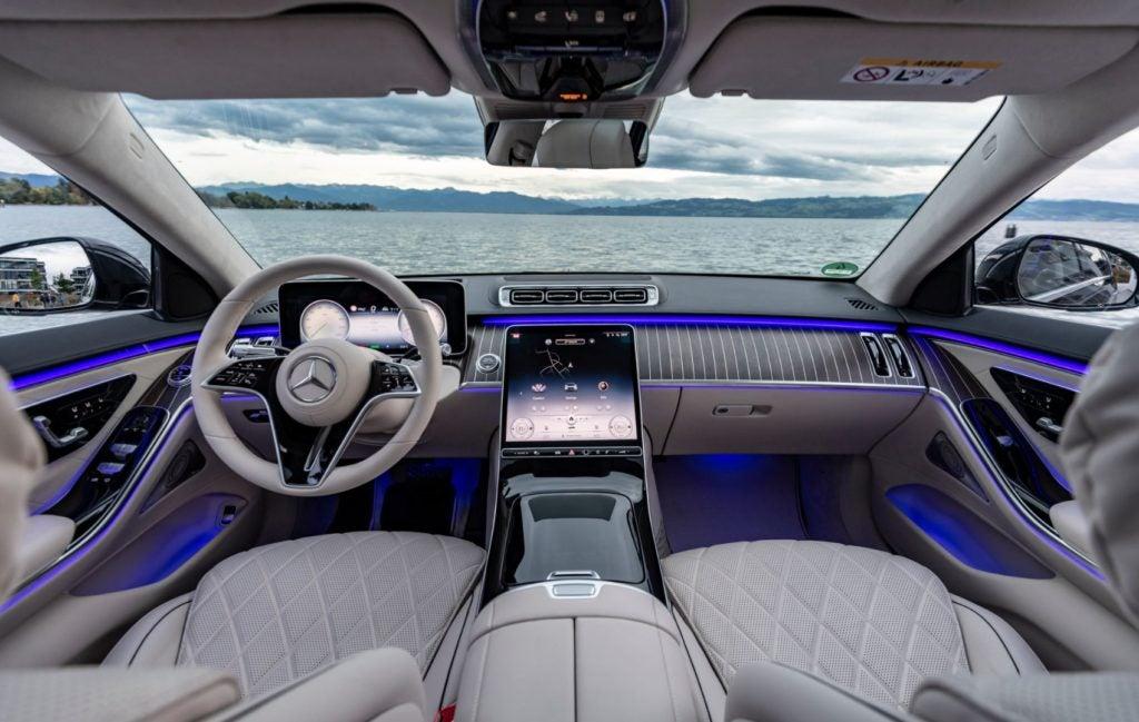 2021 Mercedes-Benz S-Class interior layout.