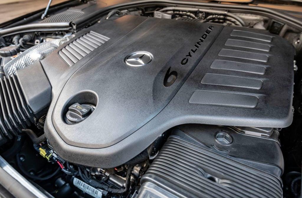 2021 Mercedes-Benz S-Class under the hood.