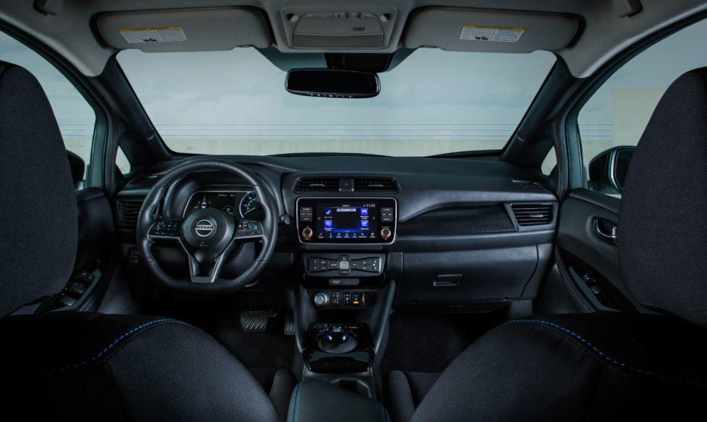 2021 Nissan LEAF interior layout.