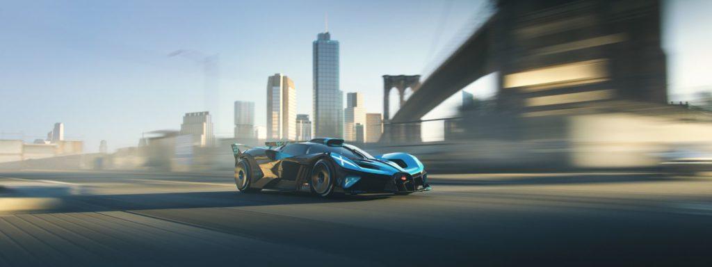 The Bugatti Bolide on the virtual race tracks of CSR Racing 2.