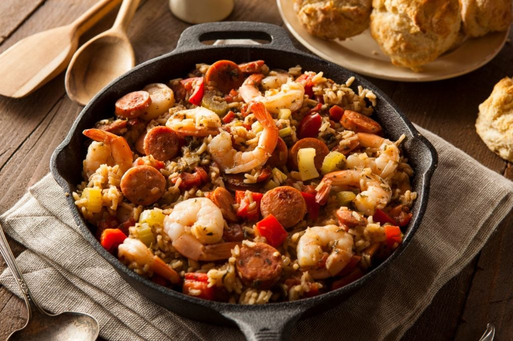 The Nissan Family Cookbook features 140 delicious recipes, like this hearty jambalaya dish.