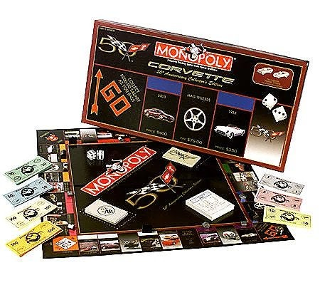 Corvette 50th Anniversary Collector's Edition Monopoly.