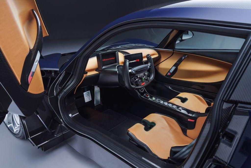 Hennessy Venom F5 interior layout.