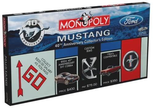 Mustang Monopoly 40th Anniversary Collectors Edition
