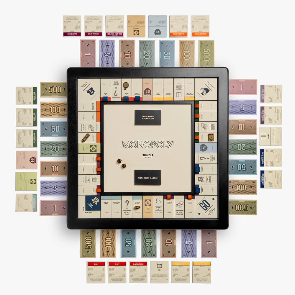 Shinola Detroit Edition Monopoly