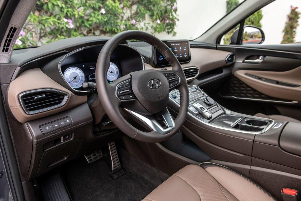 2021 Hyundai Santa Fe interior layout