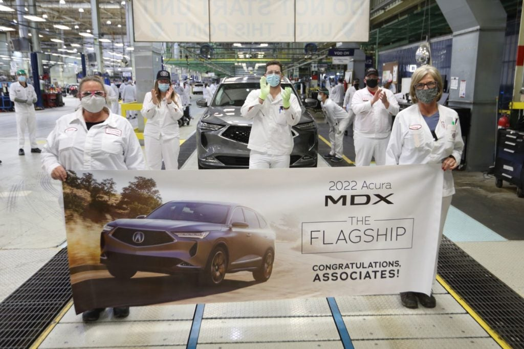 Production of the 2022 Acura MDX is underway at the East Liberty Auto Plant in Ohio.