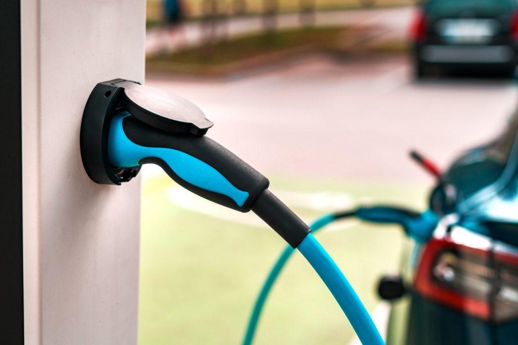 EV charging station.
