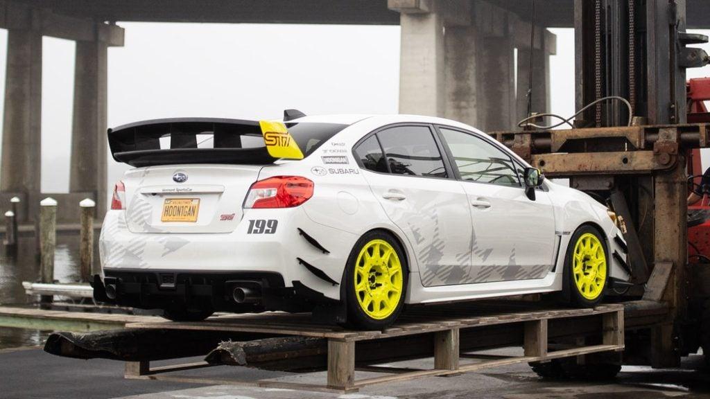 Gymkhana-inspired Subaru WRX STI.