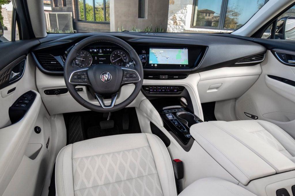 2021 Buick Envision Avenir interior layout.
