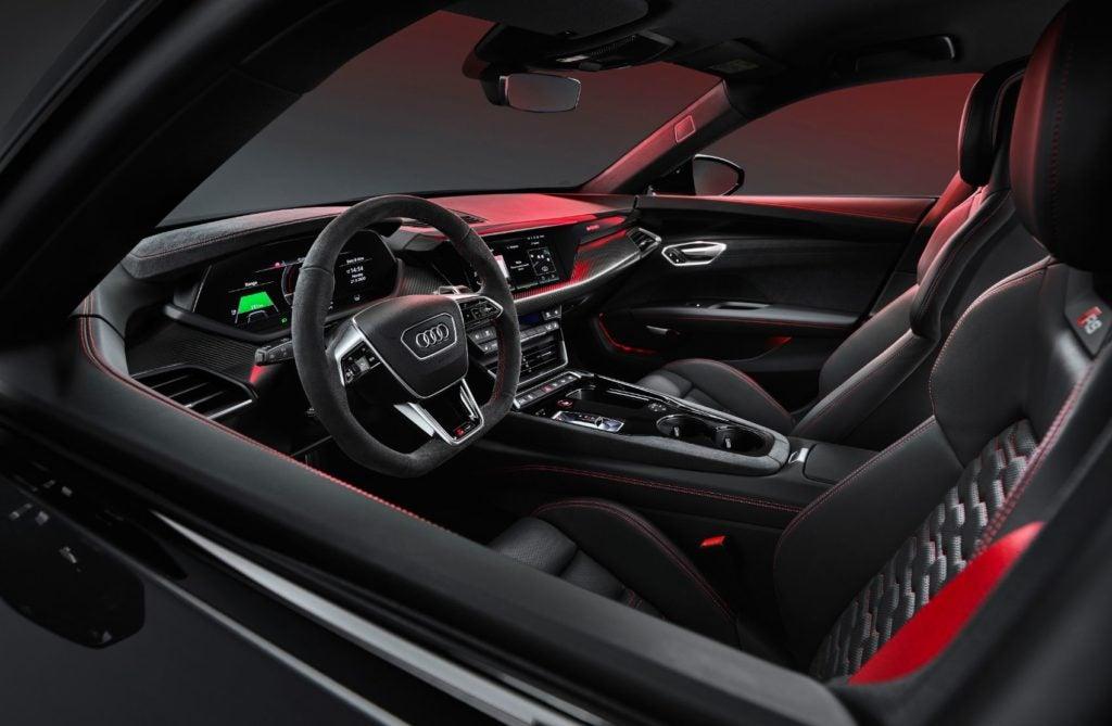 2022 Audi e-tron GT interior layout