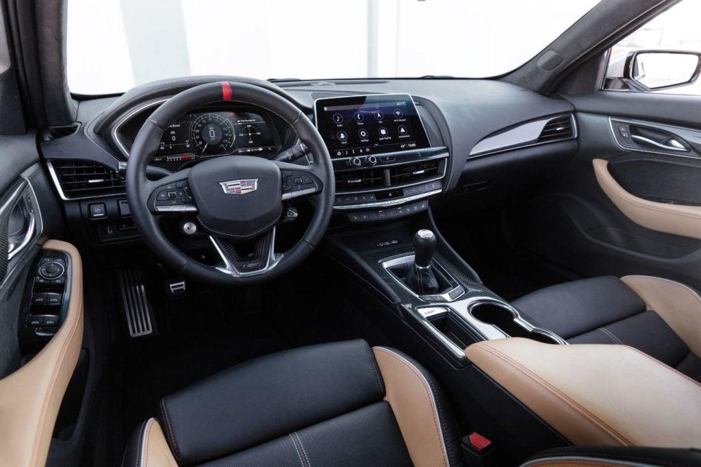 2022 Cadillac CT5-V Blackwing interior layout.