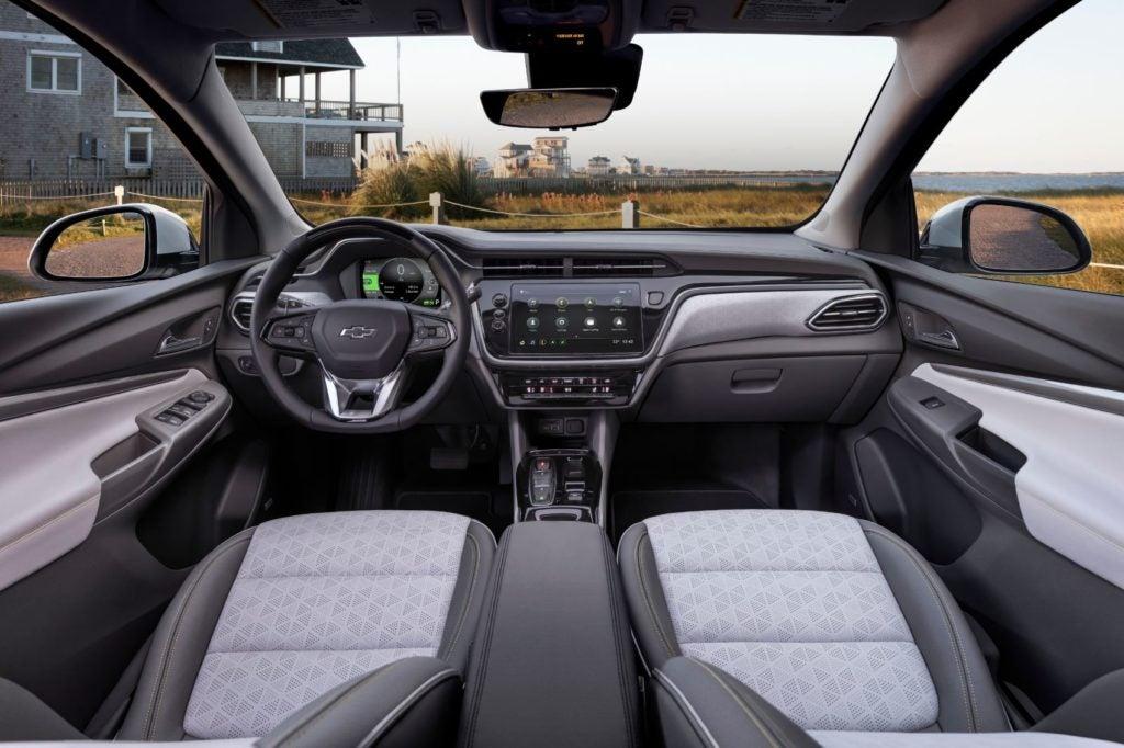 2022 Chevy Bolt EUV interior layout.