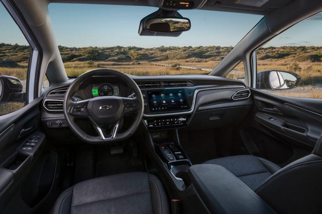 2022 Chevy Bolt interior layout.