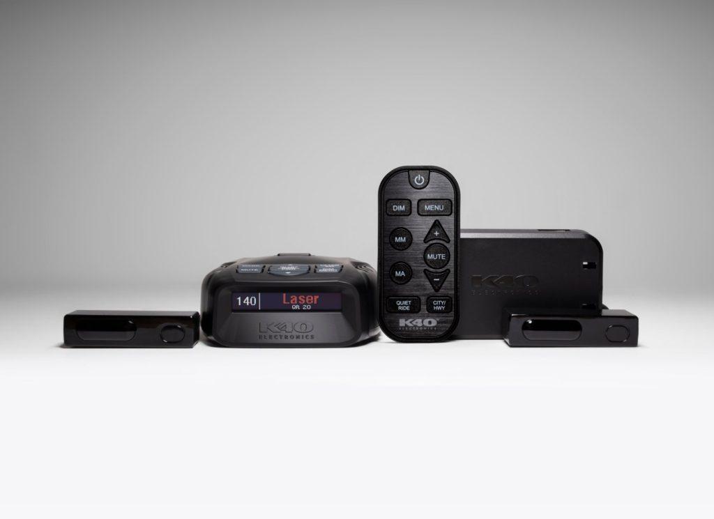 K40 Platinum100 portable radar detector with remote control and laser defusers.