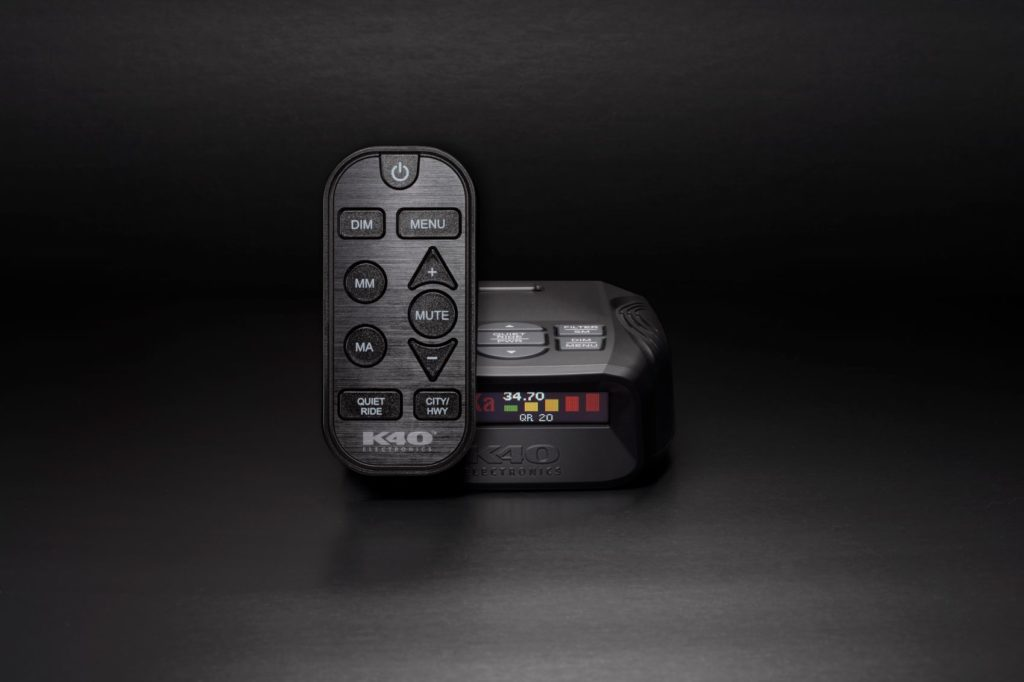 K40 Platinum100 with the optional remote control.
