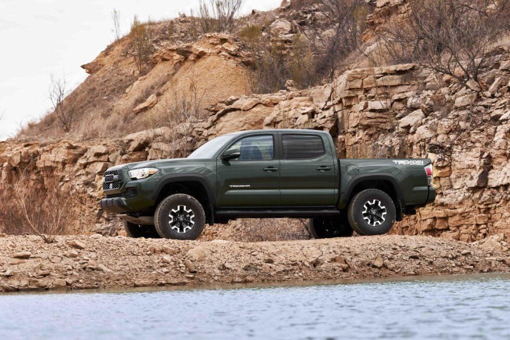 The Toyota Tacoma TRD Lift Kit includes new monotube Bilstein shocks.