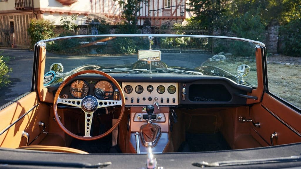 1963 Jaguar XKE interior.